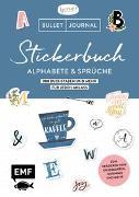 Cover-Bild zu Edition Michael Fischer: Bullet Journal - Stickerbuch Alphabete und Sprüche: 1000 Buchstaben und mehr für jeden Anlass