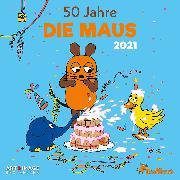 Cover-Bild zu teNeues Calendars & Stationery GmbH & Co. KG: Der Kalender mit der Maus 2021 - Wand-Kalender - Broschüren-Kalender - A&I - 30x30 - 30x60 geöffnet
