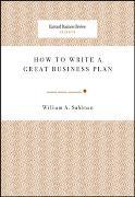 Cover-Bild zu How to Write a Great Business Plan von Sahlman, William A.