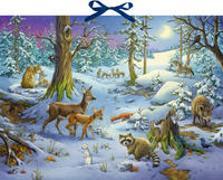 Cover-Bild zu Sound-Adventskalender - Hört ihr die Tiere im Winterwald? von Simon, Ute (Illustr.)