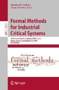 Cover-Bild zu Ter Beek, Maurice H. (Hrsg.): Formal Methods for Industrial Critical Systems (eBook)