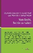 Cover-Bild zu Vom Recht, Rechte zu haben (eBook) von Maxwell, Lida