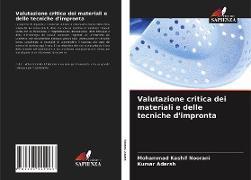 Cover-Bild zu Valutazione critica dei materiali e delle tecniche d'impronta von Noorani, Mohammad Kashif