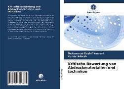 Cover-Bild zu Kritische Bewertung von Abdruckmaterialien und -techniken von Noorani, Mohammad Kashif