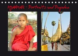 Cover-Bild zu Myanmar - Portraits und Pagoden (Tischkalender 2022 DIN A5 quer) von Affeldt, Uwe