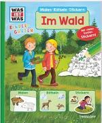 Cover-Bild zu Wenzel, Ida: WAS IST WAS Kindergarten Malen Rätseln Stickern Im Wald
