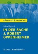 Cover-Bild zu Kipphardt, Heinar: In der Sache J. Robert Oppenheimer von Heinar Kipphardt