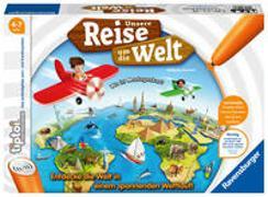 Cover-Bild zu Ravensburger tiptoi Spiel 00070 Unsere Reise um die Welt - Lernspiel ab 4 Jahren, lehrreiches Geografiespiel für Jungen und Mädchen, für 1-4 Spieler