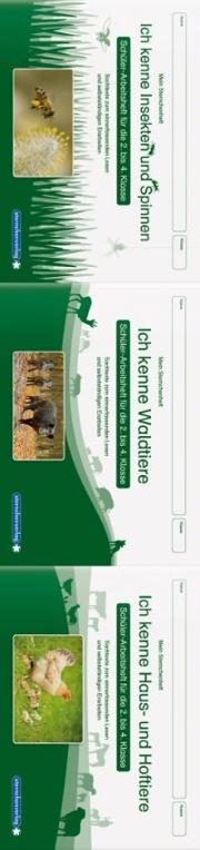 Cover-Bild zu Langhans, Katrin: Ich kenne Waldtiere / Haus- und Hoftiere / Insekten und Spinnen. 3 Schülerarbeitshefte im Kombi für die 2. bis 4. Klasse