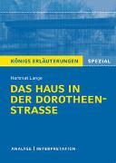 Cover-Bild zu Das Haus in der Dorotheenstraße von Hartmut Lange von Lange, Hartmut