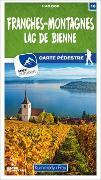 Cover-Bild zu Hallwag Kümmerly+Frey AG (Hrsg.): Franches-Montagnes - Lac de Bienne Nr. 10 Wanderkarte 1:40 000. 1:40'000