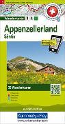 Cover-Bild zu Hallwag Kümmerly+Frey AG (Hrsg.): Appenzellerland Säntis Nr. 02 Touren-Wanderkarte 1:50 000. 1:50'000
