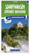 Cover-Bild zu Hallwag Kümmerly+Frey AG (Hrsg.): Schaffhausen Zürcher Weinland Nr. 01 Wanderkarte 1:40 000. 1:40'000
