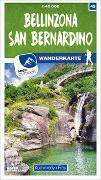 Cover-Bild zu Hallwag Kümmerly+Frey AG (Hrsg.): Bellinzona San Bernardino Nr. 45 Wanderkarte 1:40 000. 1:40'000