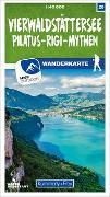 Cover-Bild zu Hallwag Kümmerly+Frey AG (Hrsg.): Vierwaldstättersee - Pilatus - Rigi - Mythen Nr. 20 Wanderkarte 1:40 000. 1:40'000