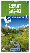 Cover-Bild zu Hallwag Kümmerly+Frey AG (Hrsg.): Zermatt - Saas-Fee Nr. 49 Wanderkarte 1:40 000. 1:40'000