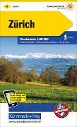 Cover-Bild zu Hallwag Kümmerly+Frey AG (Hrsg.): Zürich Nr. 06 Wanderkarte 1:60 000. 1:60'000