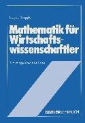 Cover-Bild zu Stöppler, Siegmar: Mathematik für Wirtschaftswissenschaftler (eBook)