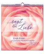 Cover-Bild zu sagt die Liebe 2021 von Fried, Erich