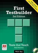 Cover-Bild zu First Testbuilder 3rd edition Student's Book with key Pack von Harrison, Mark