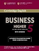 Cover-Bild zu Cambridge English Business 5 Higher. With Answers
