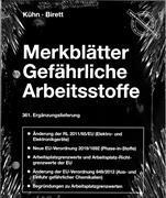 Cover-Bild zu 361. Ergänzungslieferung - Merkblätter gefährliche Arbeitsstoffe