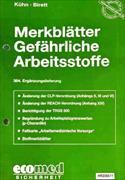 Cover-Bild zu 364. Ergänzungslieferung - Merkblätter gefährliche Arbeitsstoffe