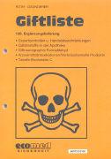 Cover-Bild zu 136. Ergänzungslieferung - Giftliste