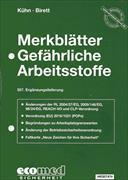 Cover-Bild zu 357. Ergänzungslieferung - Merkblätter gefährliche Arbeitsstoffe