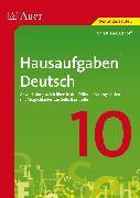 Cover-Bild zu Hausaufgaben Deutsch Klasse 10 von Althoff, Christiane