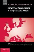 Cover-Bild zu Grigoleit, Christoph (Hrsg.): Unexpected Circumstances in European Contract Law