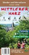 Cover-Bild zu Der Mittlere Harz Wander- und Fahrradkarte 1 : 30 000. 1:30'000