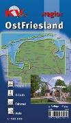 Cover-Bild zu Ostfriesland >regio< (ganze Region ostfriesische Halbinsel), KVplan, Radkarte/Freizeitkarte, 1:100.000 / 1:25.000