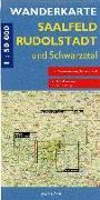 Cover-Bild zu Saalfeld, Rudolstadt und Schwarzatal 1 : 50 000 Wanderkarte. 1:50'000 von Gebhardt, Lutz (Hrsg.)