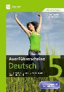 Cover-Bild zu Auer Führerscheine Deutsch Klasse 5 von Euler, Verena