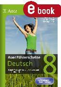 Cover-Bild zu Auer Führerscheine Deutsch Klasse 8 (eBook) von Euler, Verena