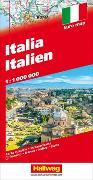 Cover-Bild zu Italien Strassenkarte 1:1 Mio. 1:1'000'000 von Hallwag Kümmerly+Frey AG (Hrsg.)