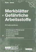 Cover-Bild zu 266. Ergänzungslieferung - Merkblätter gefährliche Arbeitsstoffe