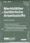 Cover-Bild zu 269. Ergänzungslieferung - Merkblätter gefährliche Arbeitsstoffe