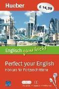 Cover-Bild zu Englisch ganz leicht Perfect your English. Paket: 5 Audio-CDs + Begleitheft + MP3-Download von Hoffmann, Hans G.
