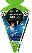 Cover-Bild zu Stolte, Reiner (Illustr.): Schultüten-Kratzelbuch - Fußballfreunde - Hurra, endlich Schule!