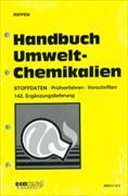 Cover-Bild zu 142. Ergänzungslieferung - Handbuch Umwelt-Chemikalien