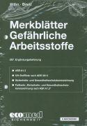 Cover-Bild zu 287. Ergänzungslieferung - Merkblätter gefährliche Arbeitsstoffe