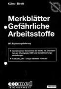Cover-Bild zu 367. Ergänzungslieferung - Merkblätter gefährliche Arbeitsstoffe
