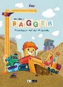 Cover-Bild zu Der kleine Bagger - Abenteuer auf der Baustelle von Lomp, Stephan