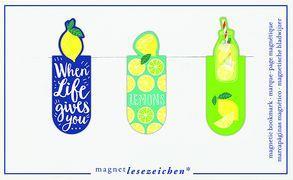 Cover-Bild zu Magnetlesezeichen Zitronen VE 6