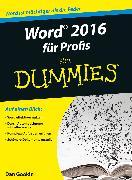 Cover-Bild zu eBook Word 2016 für Profis für Dummies