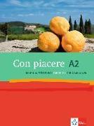 Cover-Bild zu Con piacere A2. Lehr- und Arbeitsbuch mit 2 Audio-CDs