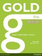 Cover-Bild zu New Gold First NE 2015 Exam Maximiser w/ online audio (with key) von Newbrook, Jacky