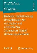 Cover-Bild zu eBook Methoden zur Bestimmung der Ausfallraten von elektrischen und elektronischen Systemen am Beispiel der Lenkungselektronik